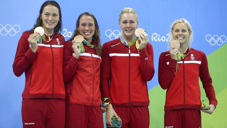 Jeanette Ottesen var med til at vinde OL-bronze i holdmedley i Rio i 2016.