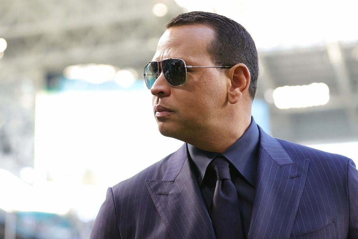 (FILES) In this file photo former baseball player Alex Rodriguez looks on before Super Bowl LIV at Hard Rock Stadium on February 2, 2020 in Miami, Florida. - Former Major League Baseball MVP Alex Rodriguez and his business partner are in preliminary discussions to purchase the NBA's Minnesota Timberwolves, US media reported April 10, 2021. (Photo by Maddie Meyer / GETTY IMAGES NORTH AMERICA / AFP)