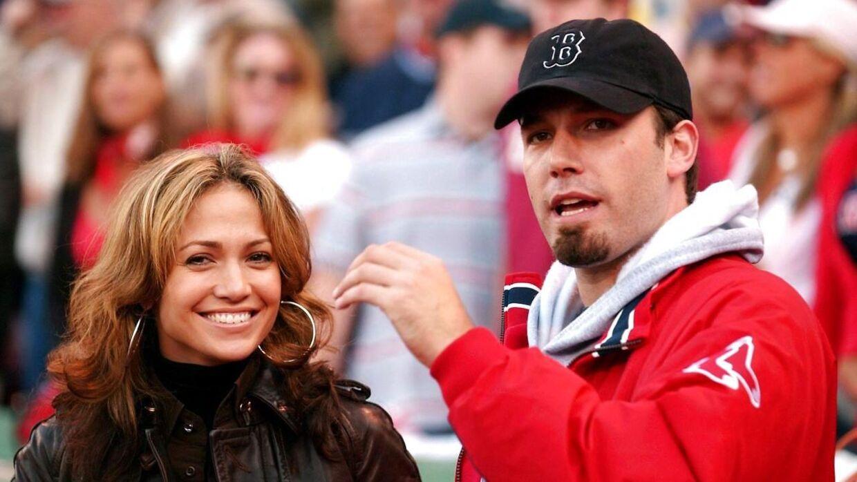 Ben Affleck er fan af Boston Red Sox. Her ses han sammen med Lopez i 2003.