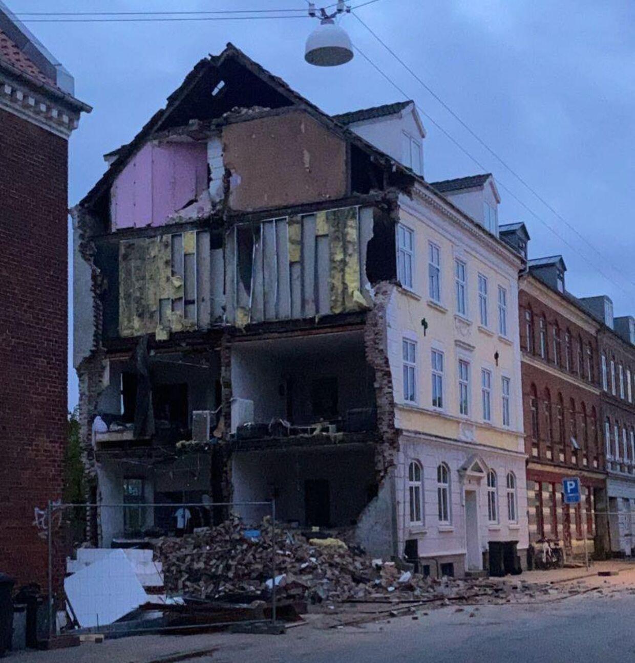 Stueetagen i Østergade nummer 57 stod pludselig pivåben. Foto: Byrd, Daniel Wolff