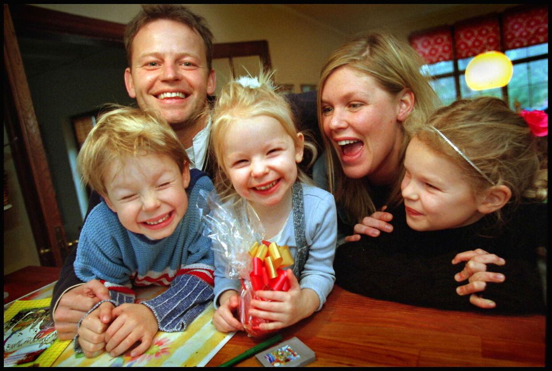 Arkivfoto fra 1998 af Bubber og familien.