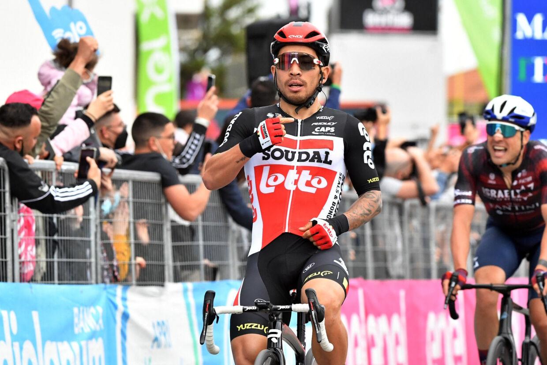 Caleb Ewan tog fredag sin anden etapesejr i årets Giro d'Italia. Jennifer Lorenzini/Reuters