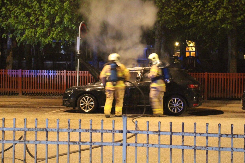 Ildspåsættelse på Nørrebro. Foto: Presse-fotos.dk
