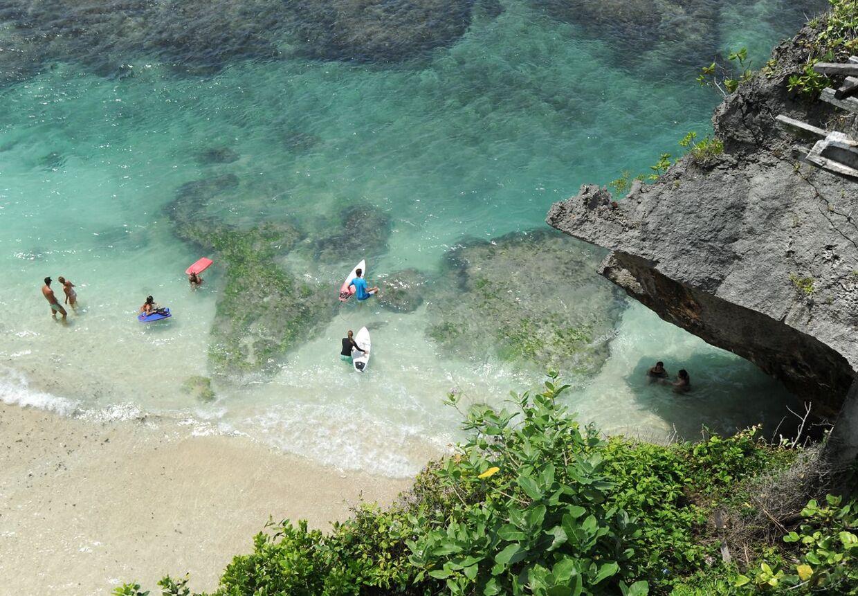 Turister på Bali SONNY TUMBELAKA / AFP