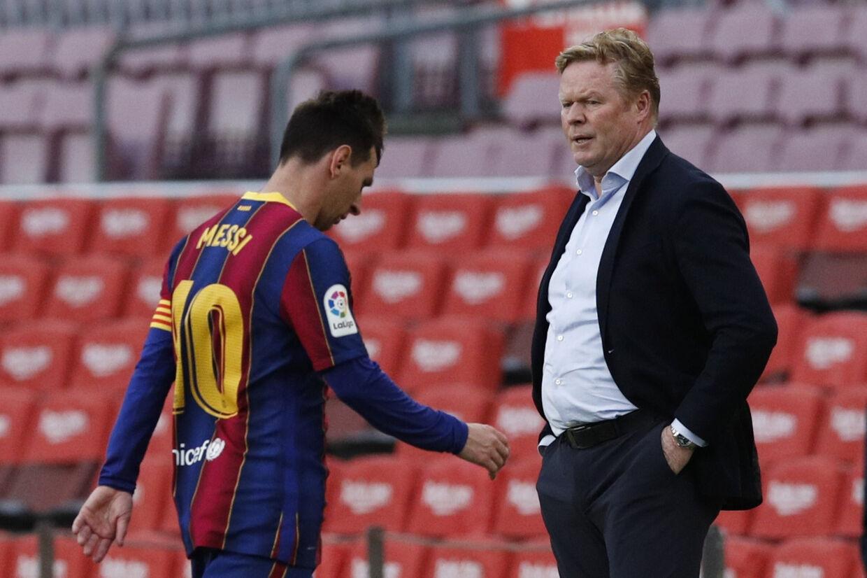 Lionel Messi forlod slukøret banen, efter at FC Barcelona søndag aften tabte til Celta Vigo og missede muligheden for at vinde det spanske mesterskab. Albert Gea/Reuters