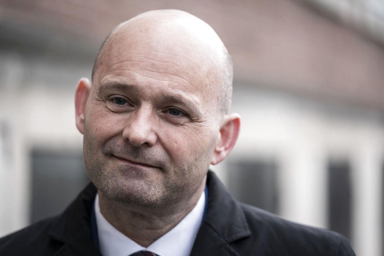 Søren Pape Poulsen (C) ankommer til genåbningsforhandlinger i Justitsministeriet mandag den 3. maj 2021.. (Foto: Emil Helms/Ritzau Scanpix)