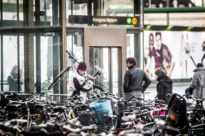 De russiske førtidspensionister satte ifølge politiets tiltale stjålne cykler for mange penge til salg, efter at cyklerne var stjålet ved blandt andet metrostationer i København. Modelfoto.