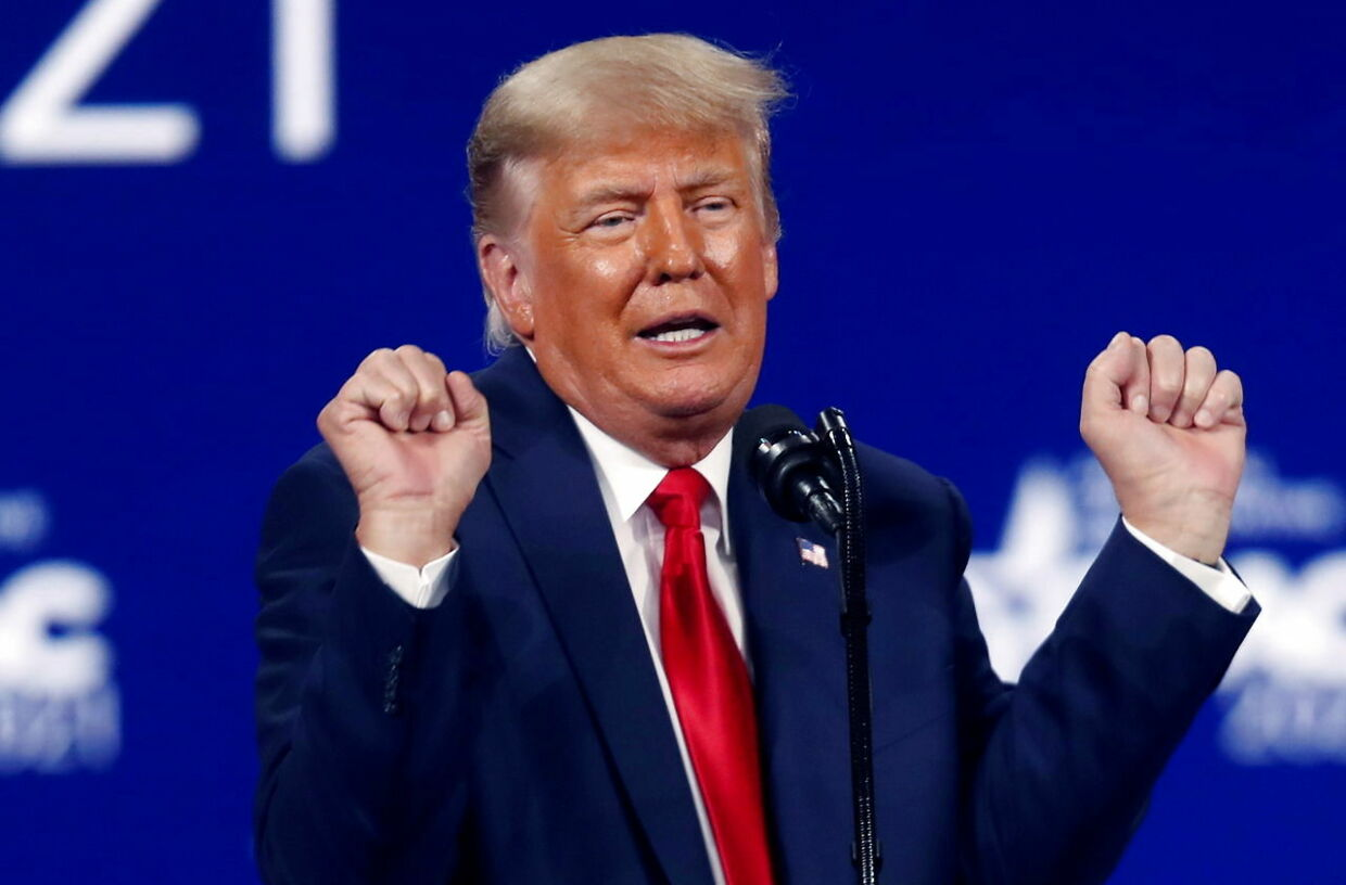 FILE PHOTO: Former U.S. President Donald Trump speaks at the Conservative Political Action Conference (CPAC) in Orlando, Florida, U.S. February 28, 2021. REUTERS/Octavio Jones/File Photo