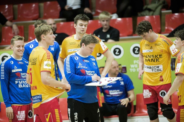 Herrehåndbold slutspil: GOG - Bjerringbro-Silkeborg, i Gudme, Phønix Tag Arena. Søndag den16. Maj 2021. (Foto: Tim Kildeborg Jensen/Ritzau Scanpix)
