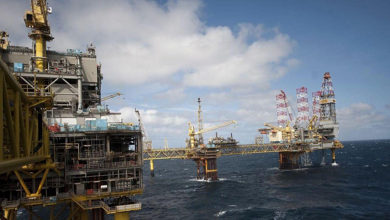 Semco Maritime har vundet en stor opgave i forbindelse med genopbygningen af Tyra-feltet i Nordsøen. Billedet er hentet i arkivet og viser en Mærsk boreplatform et andet sted i Nordsøen. (Arkivfoto)
