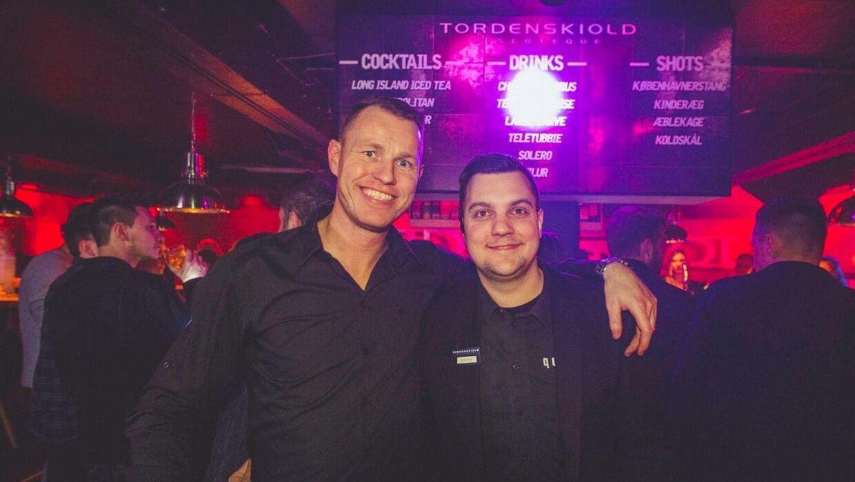 Thomas Lunderskov (tv.) med Tordenskiold-makkeren Carsten Blicher.