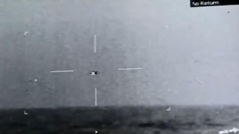 Et stillbillede fra video, som Pentagon har verificeret ægtheden af.