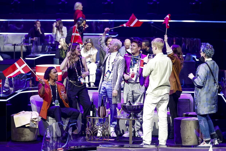 Fyr & Flamme efter deres optræden i Rotterdam torsdag aften.