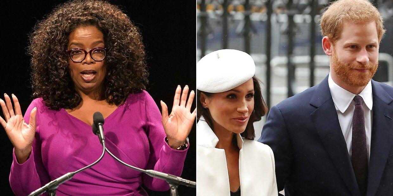 Oprah Winfrey, prins Harry og Meghan Markle