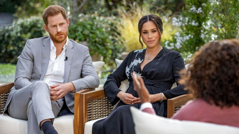 Prins Harry og Meghan Markle bliver interviewet af Oprah Winfrey