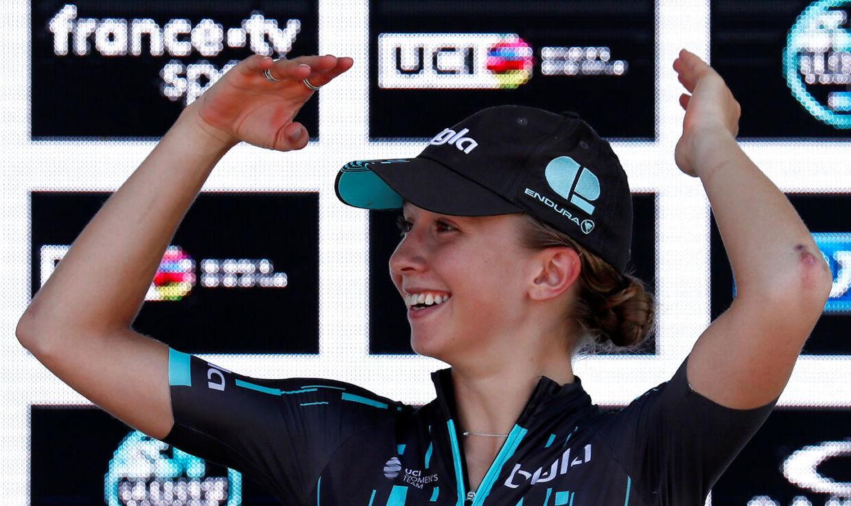 Cecilie Uttrup blev nummer tre i Flandern Rundt i 2019.