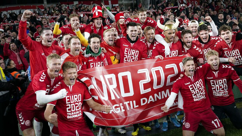 Sådan så det ud, da Danmark i efteråret 2019 kvalificerede sig til slutrunden på hjemmebane, der senere blev flyttet fra 2020 til 2021.