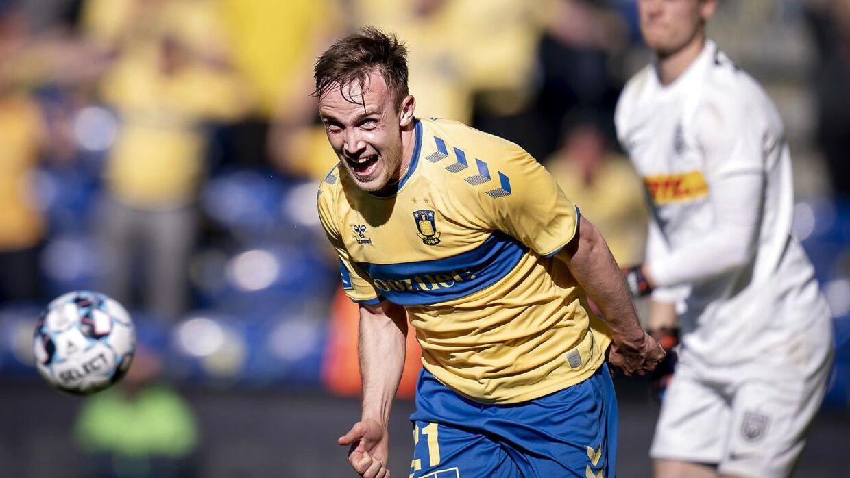 Lasse Vigen sendte Brøndby Stadion i ekstase, da han scorede til 1-0 mod FC Nordsjælland.