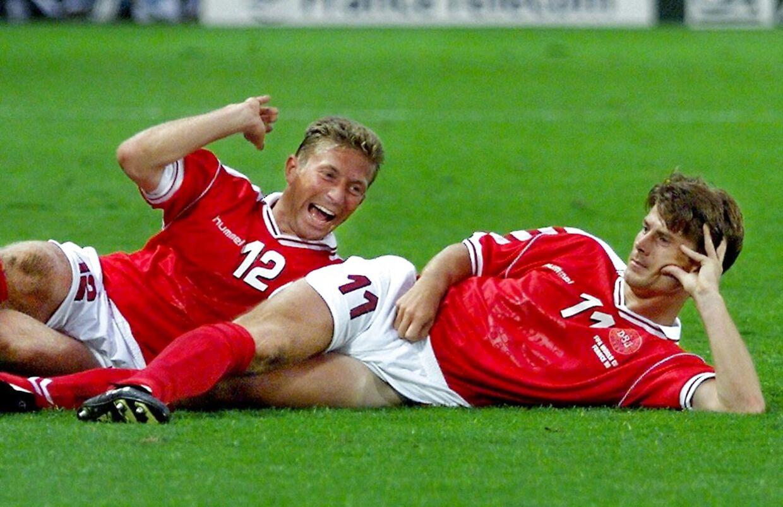 Brian Laudrup (og Søren Colding) da Danmark ved VM i Frankrig i 1998 tabte 2-3 til Brasilien.