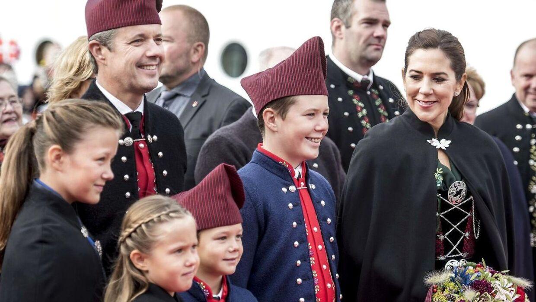 Kronprinsparret besøgte sammen med parrets børn Færøerne i august 2018.