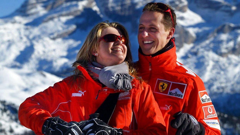 Michael Schumacher med konen Corinna.