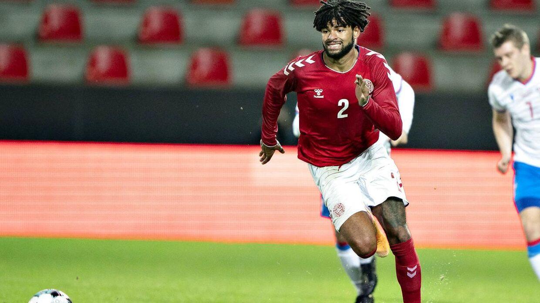 Philip Billing har kun spillet én landskamp for Danmark. Kampen mod Færøerne i oktober.