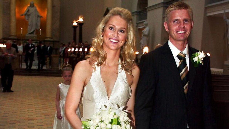 Camilla Martin og Lars Nygaard blev gift i maj 2005 i Vor Frue Kirke.