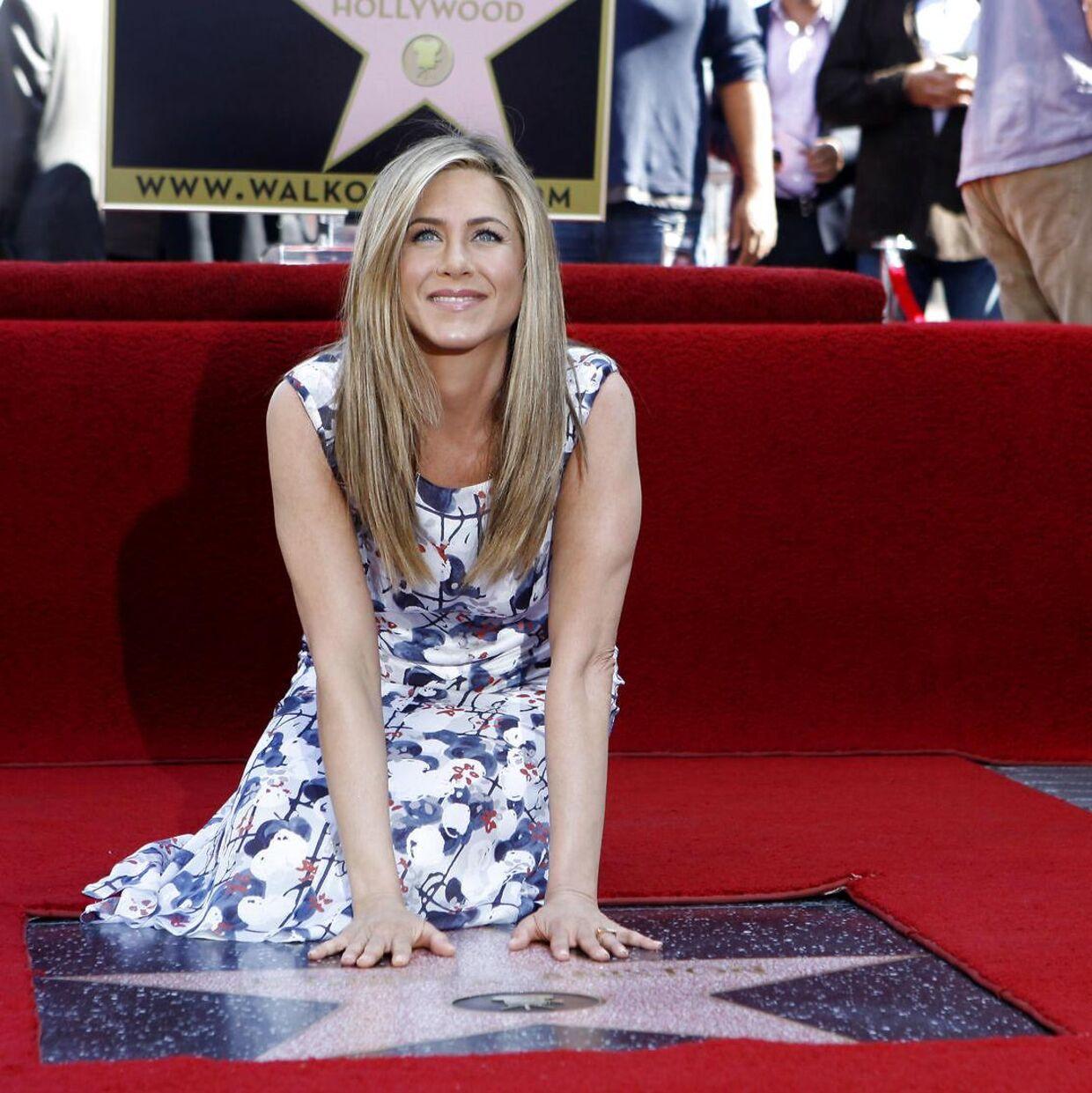 Jennifer Aniston fik i 2012 en stjerne på Walk of Fame i Hollywood.