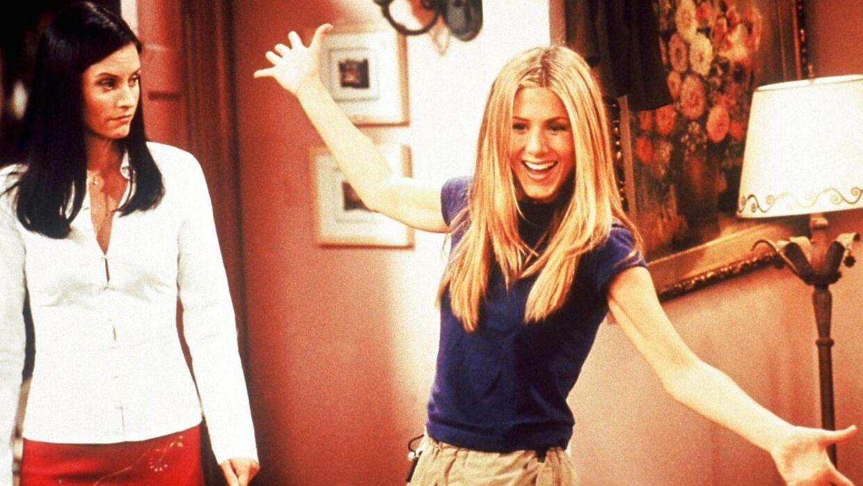 Courtney Cox og Jennifer Aniston i 'Friends'.