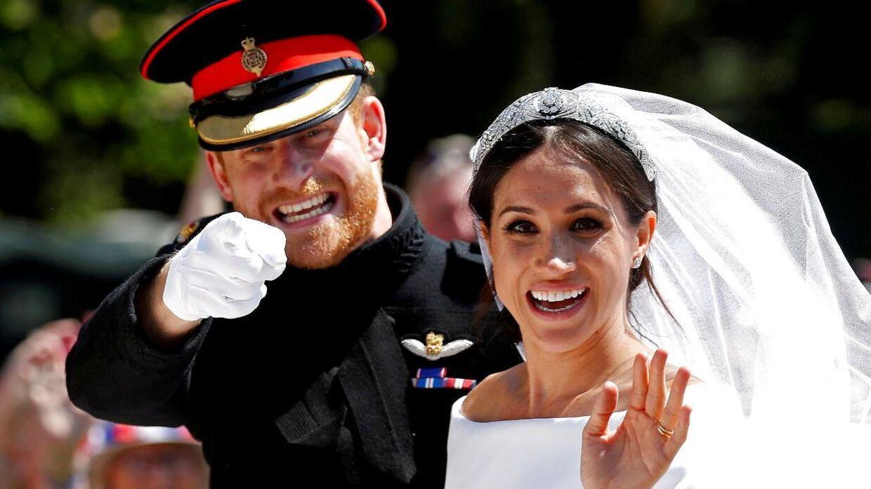Tilbage i 2017 var prins Harry det næstmest populære medlem af det britiske kongehus. Her ses han i 2018 ved sit bryllup.