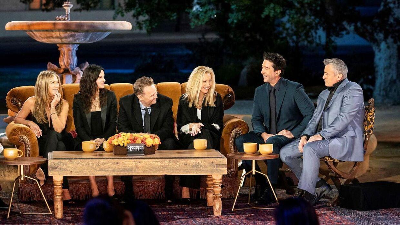 I 'Friends: The Reunion' mødtes hovedrollerne Jennifer Aniston, Courteney Cox, Matthew Perry, Lisa Kudrow, David Schwimmer og Matt Leblanc for at se tilbage på den populære serie, der sluttede for 17 år siden.