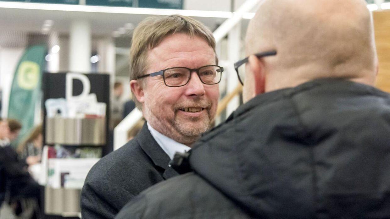Niels Dueholm (S) til valgcafé på Viborg Rådhus under Regions- og Kommunalvalget 2017, tirsdag den 21. november 2017 Foto: Morten Dueholm