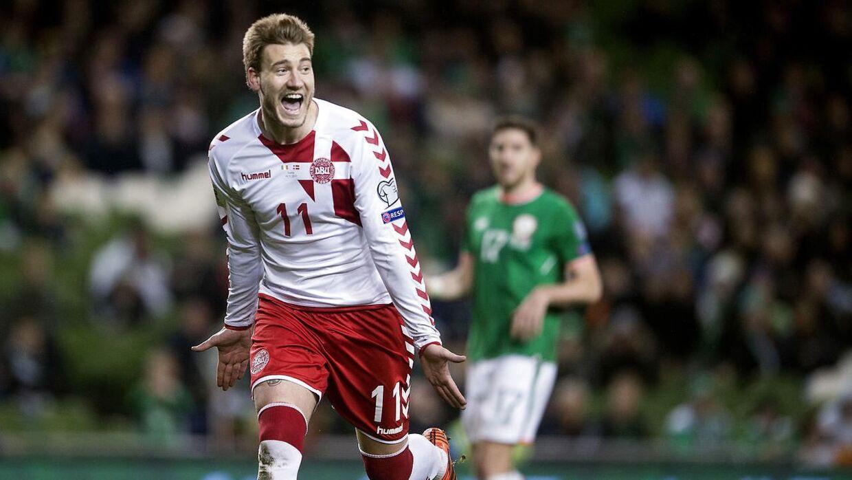 Nicklas Bendtners sidste landskamp blev 5-1-sejren over Irland i 2017, hvor han scorede Danmarks sidste mål.