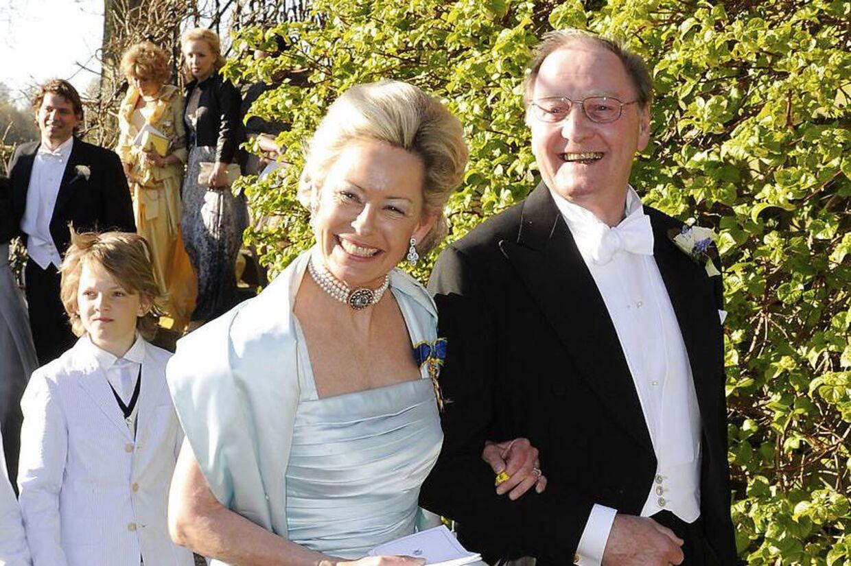 Caroline Flemings far, lensbaron Niels Iuel-Brockdorff, ses her med sin kone, lensbaronesse Molisse.