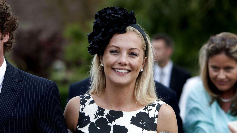 Caroline Fleming ses her til den lille prins Henriks barnedåb.