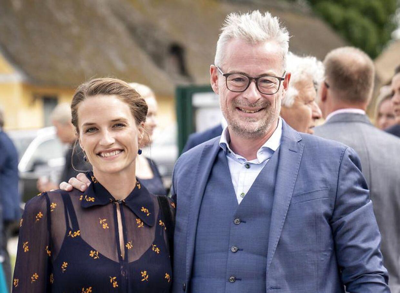 Rane Willerslev med sin anden kone, den 15 år yngre Sophie Seebach.