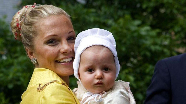 Caroline Fleming med datteren Josephine i 2007.