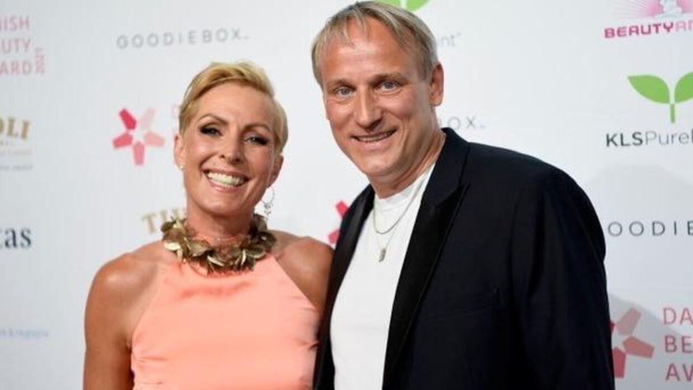 Cecilie Beck med Rasmus Botoft til Danish Beauty Awards.