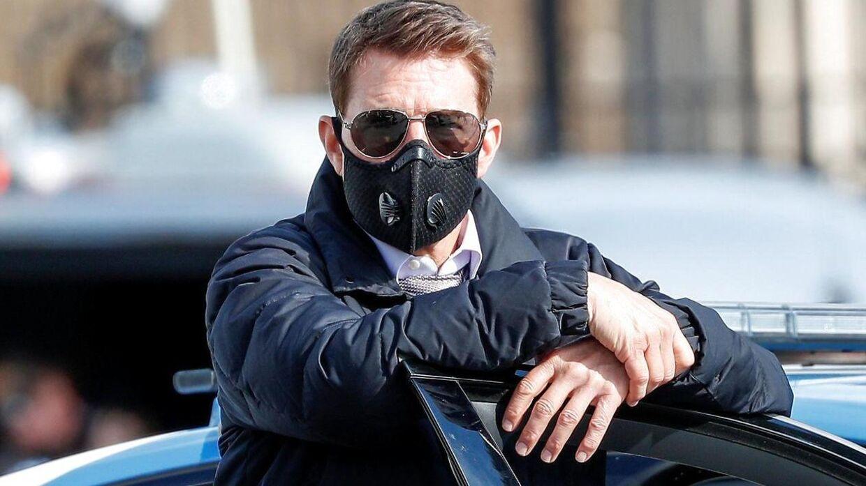 Tom Cruise under optagelserne til 'Mission Impossible 7'.
