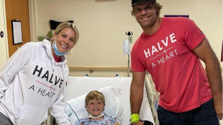 Greg Olsens søn har fået nyt hjerte.