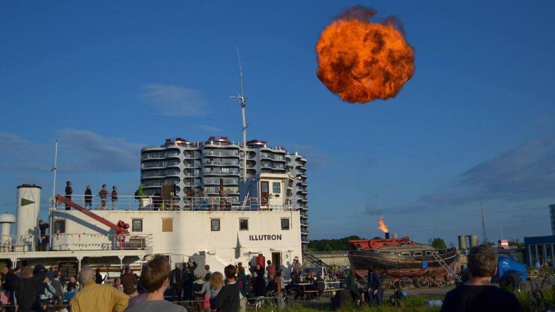 Det er en gaskanon som denne, der skaber røgringen, hvis vejrforholdene er perfekte. Billedet er taget ved en tidligere lejlighed.