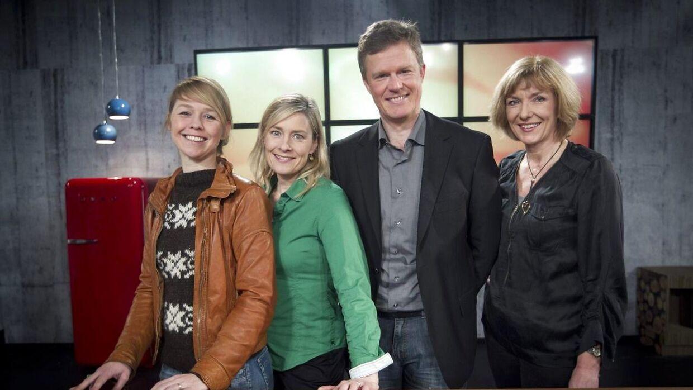 Fra venstre ses Åse Andersson, Anna Louise Tranæs Didriksen, Søren Ø. Jensen og Søs Kjeldsen, da TV2 Østjylland i 2012 præsenterede kanalens nye værter.