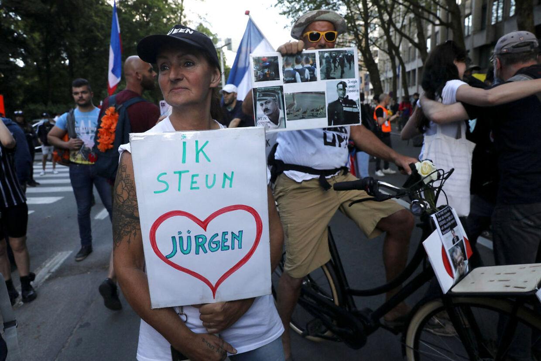 Støøtprotest for Jürgen Conings i Bruxelles. Blandt højreradikale er han en frihedshelt