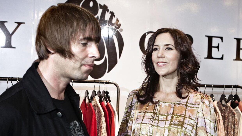 Den tidligere Oasis frontmand Liam Gallagher mødte i 2010 kronprinsesse Mary i forbindelse med et modeshow i Forum.