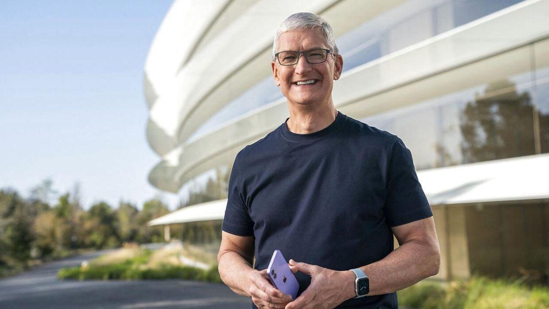 Apple CEO Tim Cook præsenterede det nye iOS 15.