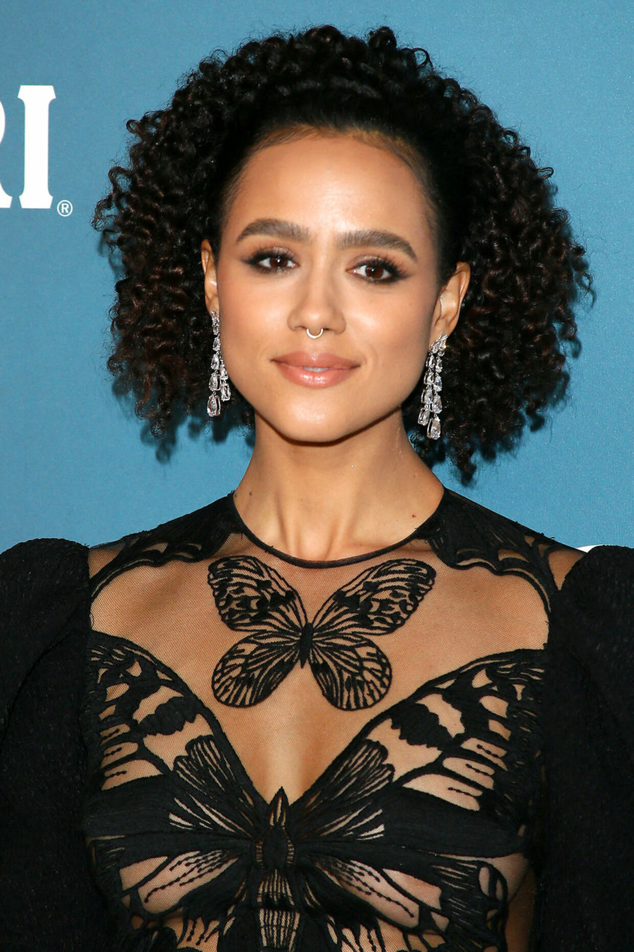 British actress Nathalie Emmanuel attends the 22nd Costume Designers Guild Awards in Beverly Hills on January 28, 2020. Jean-Baptiste Lacroix / AFP