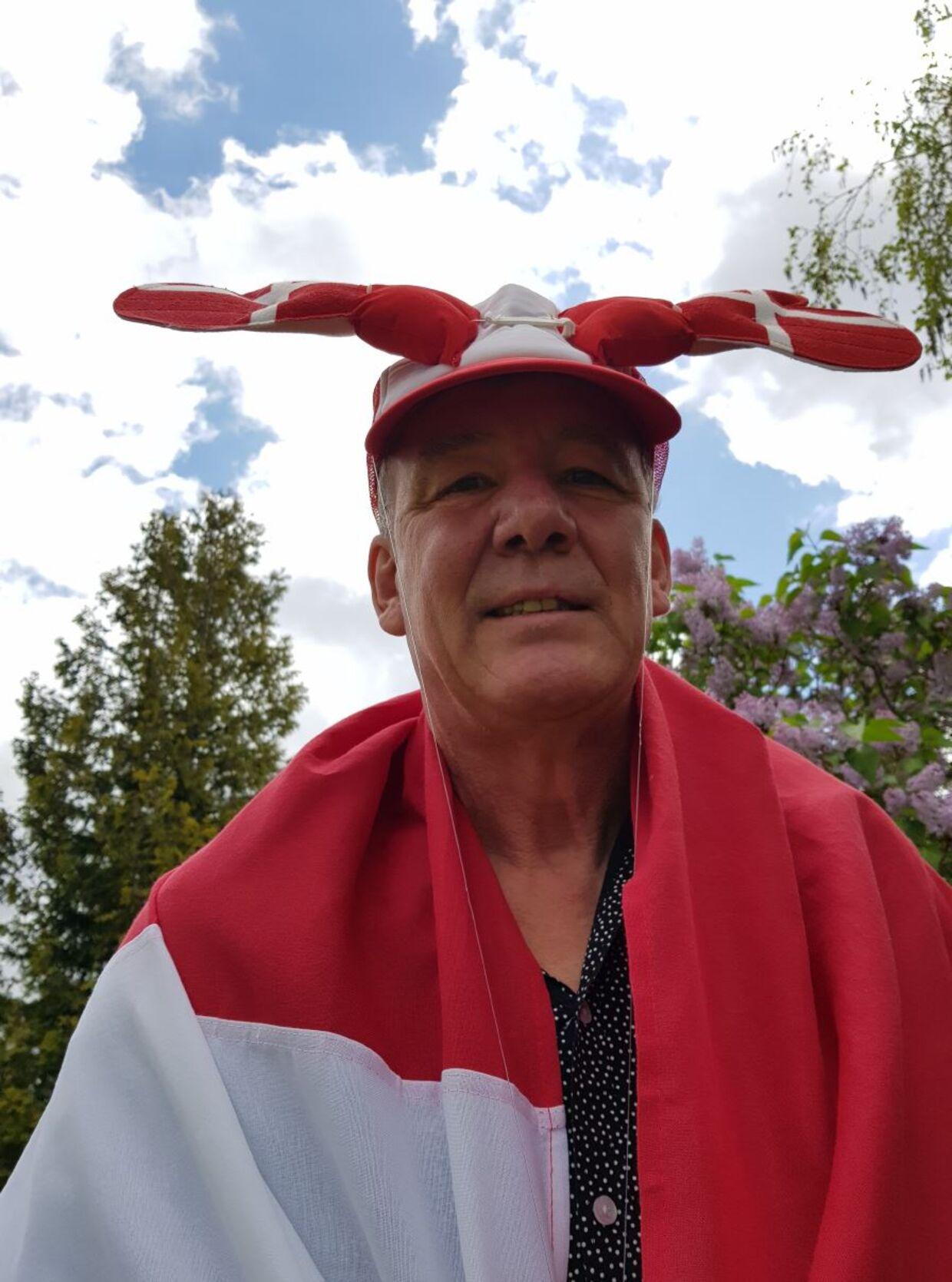 René Sørensen med sin klaphat anno 2021.