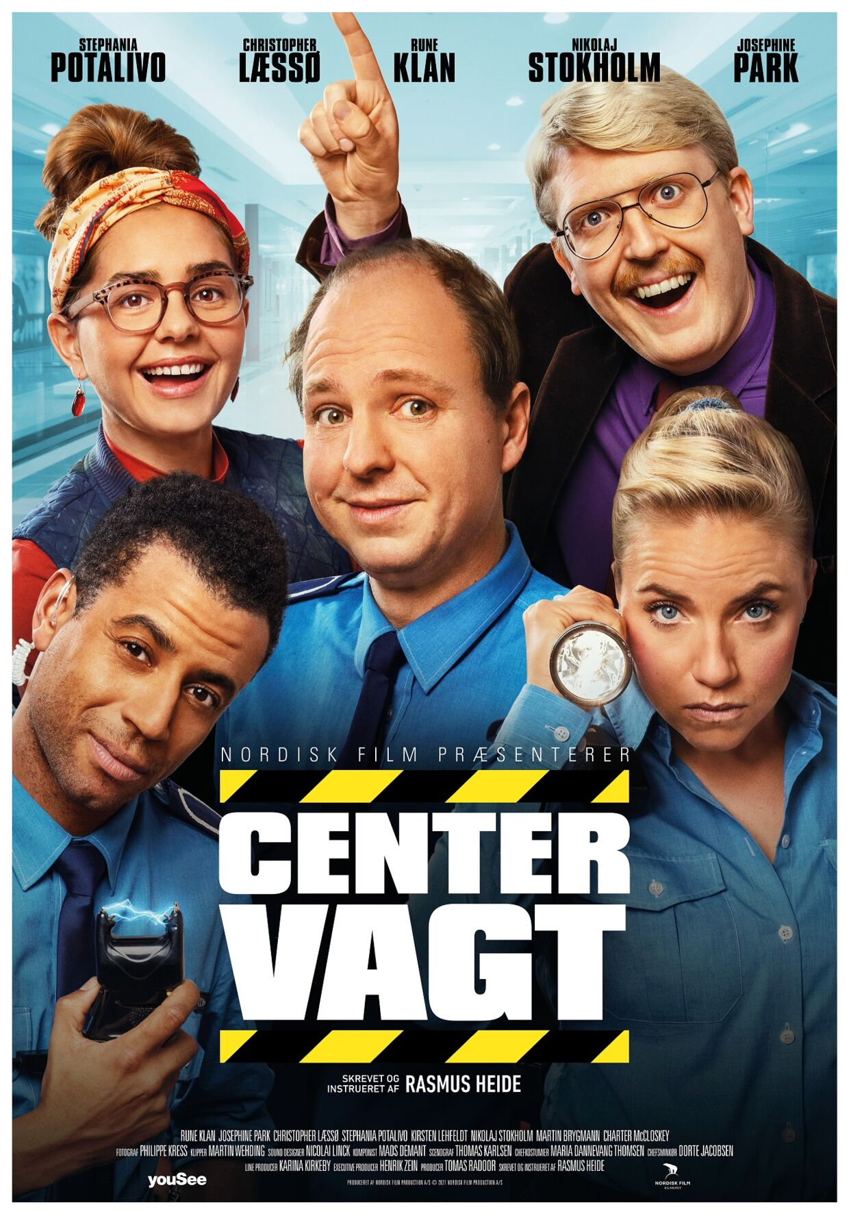 Filmplakaten til 'Centervagt'.