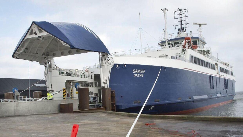 ARKIVFOTO af færge fra Samsø Rederi.