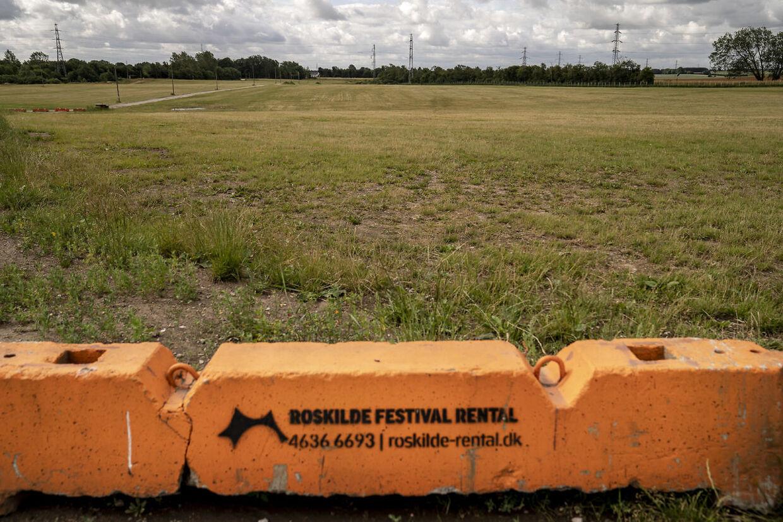 Dyrskuepladsen i Roskilde, onsdag den 1. juli 2020. Festivalpladsen skulle idag været åbnet og tusinder af mennesker skulle have løbet ind på pladsen foran orange scene. Festivalen er aflyst grundet Covid-19.. (Foto: Mads Claus Rasmussen/Ritzau Scanpix)
